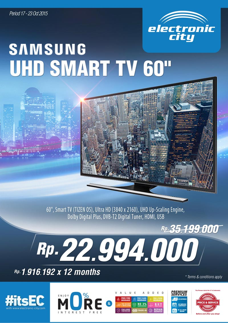 electronic city promo samsung uhd smart tv 60. Black Bedroom Furniture Sets. Home Design Ideas